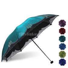 Womens Super Windproof Anti-UV Parasol Sun/Rain Protection Folding Umbrella