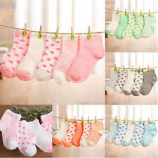 5 Pairs Lovely Cartoon Cotton Socks Baby Boy Girl NewBorn Toddler Kids Soft Sock