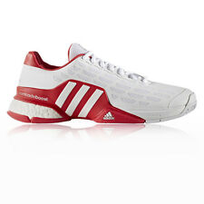 Adidas Barricade Boost 2016 Mens White Red Tennis Court Shoes Trainers