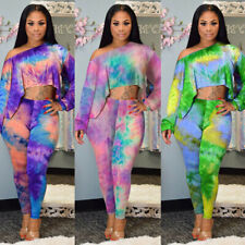 Fashion Women's African Print Dashiki Tops Party Evening Mini Dress+Pants Suits