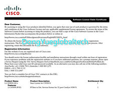 New Cisco System L-MX300-55-PR= Licence E-Delivery PAK life time Qty Available