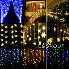 Icicle Hanging Snowing Curtain Fairy String Light Christmas Wedding Garden Decor