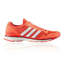Adidas Adizero Adios 3 Womens White Orange Cushioned Running Shoes Trainers