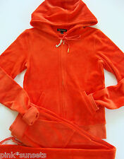 Juicy Couture J Bling Hoodie Pocket Pant Tracksuit Red Firecracker XL Velour