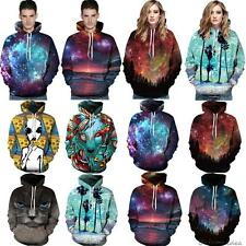 Galaxy Graphic 3D Print Long Sleeve Hoodie Sweatshirt Pullover Hoody Jumper Tops