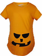 Maternity 2 Teeth Square Nose Pumpkin Face Funny Fall Halloween Spooky T shirt (