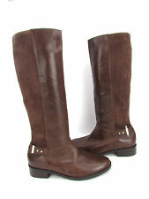 NEW Cole Haan Adler Brown Leather/Suede Slip ON Knee High Boots