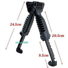 Tactical Foldable Foregrip Bipod Picatinny Rail Quick Release Mount for Rifle 49