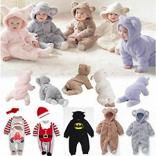 Newborn Baby Girl Boy Cotton Clothes Soft Romper Bodysuit Jumpsuit Outfits Set