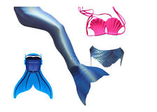 Girls 3pcs Tops Panties Mermaid Tail for Swimming with Mono fin Swimmable wear