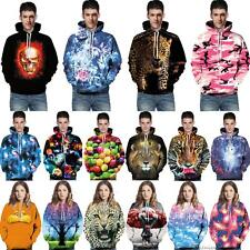 3D Graphic Print Mens Womens Hooded Sweatshirt Xmas Pullover Tops Jumpers Hoodie