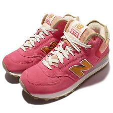 New Balance WH574WB B Pink Orange Suede Womens Running Shoes Sneakers WH574WBB