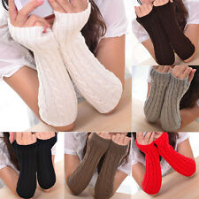 New Winter Autumn Warm Women Gloves Arm Warmer Twist Long Fingerless Knit Mitten