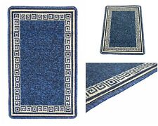 Blue Machine Washable Non-Slip Kitchen Floor Hall Mats Rubber Backed Rugs Mat