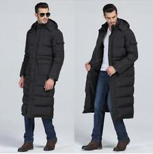 Winter Mens Full long Length Duck Down jacket Puffer Warm Hooded Parka Coat new