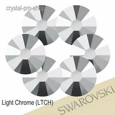 GENUINE Swarovski Light Chrome (LTCH) ( Hotfix / NO Hotfix ) Flatback Rhinestone