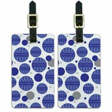 Luggage Suitcase Carry-On ID Tags Set of 2 Holiday Happy Hanukkah