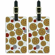 Luggage Suitcase Carry-On ID Tags Set of 2 Food Drink Bacon Coffee