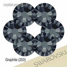 GENUINE Swarovski Graphite (253) Crystal ( Hotfix / NO Hotfix ) Black Rhinestone