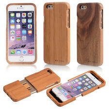 Genuine Natural Bamboo Wood Wooden Hard Back Case Cover Shell For iPhone 7/ Plus