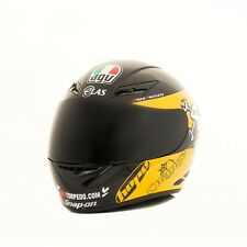 AGV K3 DARK RACE VISOR FITS GUY MARTIN HELMET LID BLACK YELLOW ISLE OF MAN TT