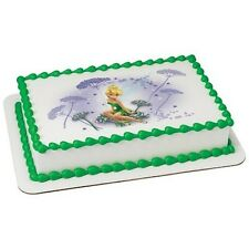Tinkerbell Fairy Flowers Edible Cake OR Cupcake Toppers Decoration