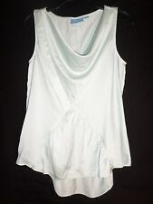 L@@K!  sIMPLY vERA wANG Draped Front Top/Shirt  Size Petite Small