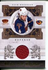 2010-11 Crown Royale Heirs to the Throne Materials #ZB Zach Bogosian 020/250