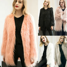 Fashion Ladies Women's Warm Faux Fur Fox Coat Jacket Winter Parka Outerwear Tops