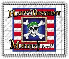 Pirates Birthday Edible Cake OR Cupcake Toppers Decoration
