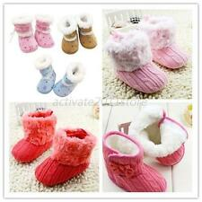 Toddler Baby Snow Booties Cotton Fleece Soft Sole Warm Baby Boots Crib Shoes New