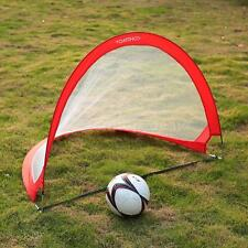 TOMSHOO 2Pcs Pop Up Soccer Goal Portable Soccer Nets Goals 2.3'/4'/6' B7D1