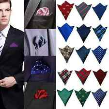 NEW Mens Pocket Square Handkerchief Plaid Floral Paisley Dot Floral Hanky Party