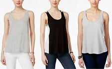 Calvin Klein Jeans Tank Top Womens Colorblocked Sunset Loose Fit Scoopneck Top