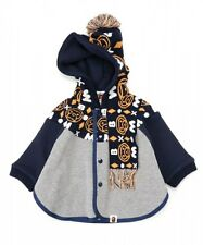 A BATHING APE BABY MILO KNIT BABY CAPE BAPE Kids Poncho Outerwear New From Japan