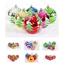 6pcs Multi-Color Christmas Electroplating Ball Xmas Tree Hanging Decor Glitter