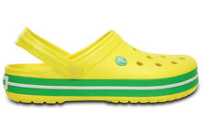 WOMEN'S UNISEX SHOES FLIP SANDALS CROCS CROCBAND [11016 LEMON/GRASS GREEN]
