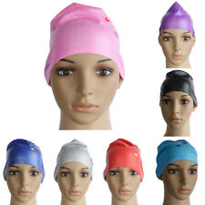Cool Waterproof Silicone Swim Cap Hat for Girls Ladies Long Hair Eco-friendly