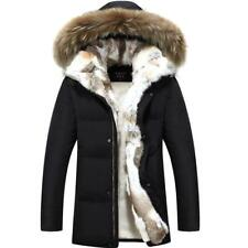 Men's Fashion Winter Thick Jacket Fur Hooded Coat Overcoat Casual Winter Warm