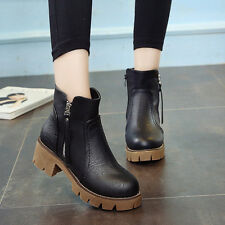 women shoes vintage ankle boots women boots thick heel leather female boot shoes
