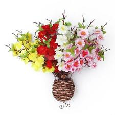 2 Artificial Spring Peach Blossom Spray Branch Silk Flower Wedding Home Decor