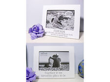 "White Photo 6"" x 4"" Frame Wooden Wood Picture Holder Sentiment Home Decor Gift"
