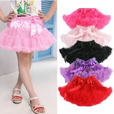 Lovely Kid Girl Chiffon Fluffy Pettiskirt Tutu Dance Party Christmas Skirt 1-10Y