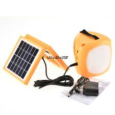 LED Solar Rechargeable Lantern &Cell Phone Charger Emergency Lamp Light IP65
