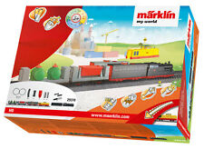 Marklin 29370 HO Freight Train Battery Operated Starter Set with Plastic Track