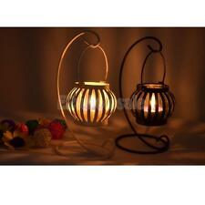 Black/White Pumpkin Lantern Tea Light Candle Holder Candlestick Decor Wedding