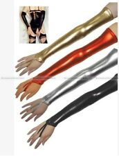 1Pair Metallic Dance Costume Arm Mitts Evening Long Gloves Stripper Wear S8