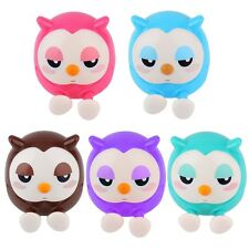 Hot Cute 2 in 1 Phone Stent The Owl Stents Money Box Plastic Holder F5