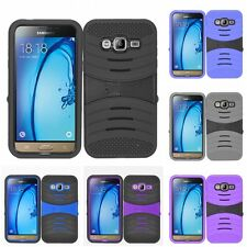 For Samsung Galaxy Amp 2 J1 2016 - Heavy Duty Case Silicone Hard Cover Stand