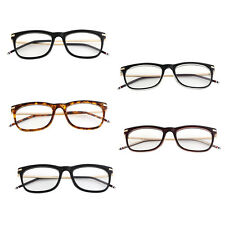 Womens Trendy Vintage Eyeglasses Metal Alloy Frame Plain Glass Spectacles XD